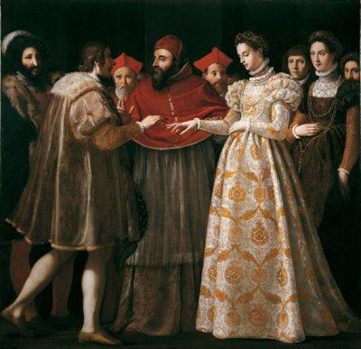 """Jacopo di Chimenti da Empoli (Firenze 1551-1640), """"Nozze di Caterina de' Medici con Enrico di Valois"""", 1600"""