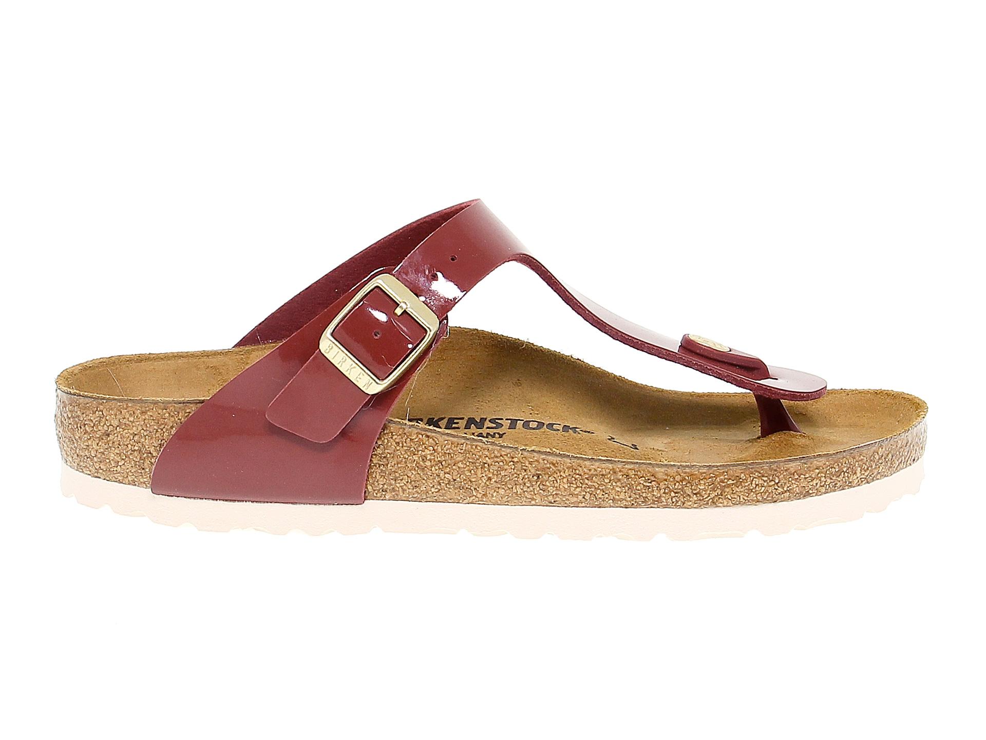 Details about Flat sandals BIRKENSTOCK 1013073 in bordeaux birkoflor Women's Shoes