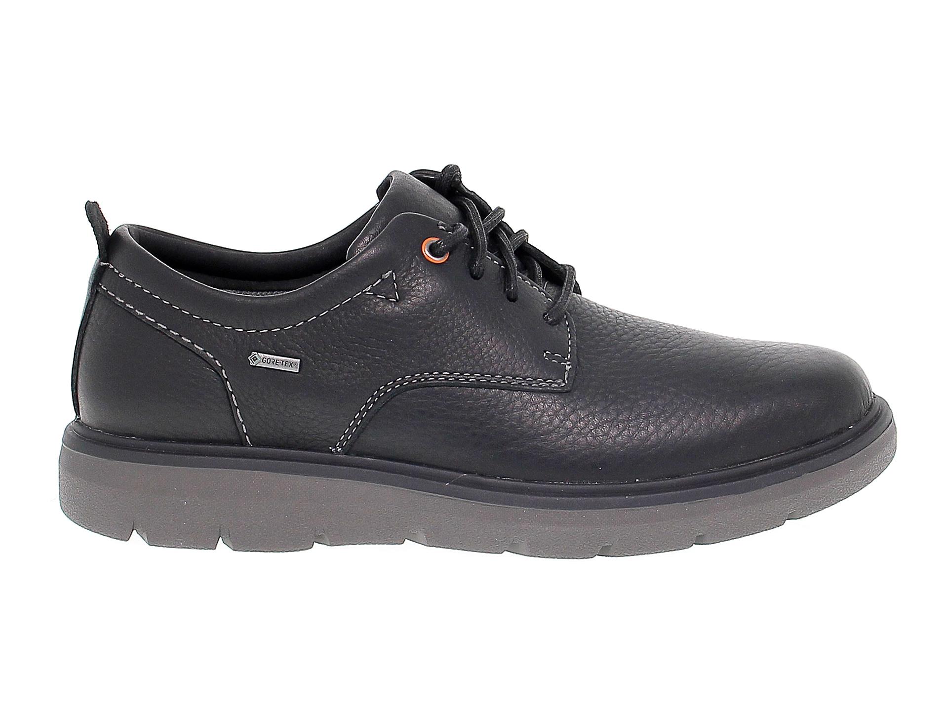 Detalles de Zapatilla CLARKS UNMAPLO de cuero negro Zapatos Hombre
