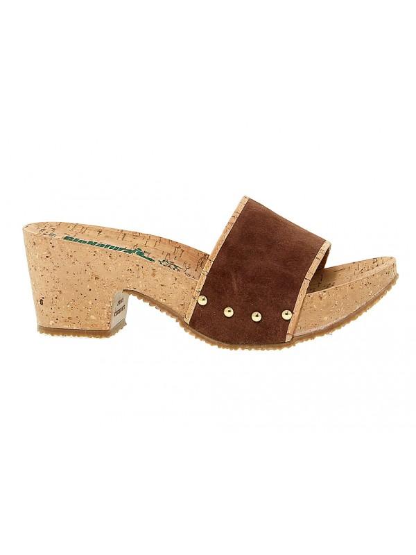 Sandalo con tacco Bionatura in pelle