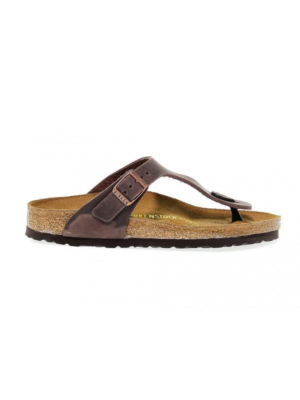 Sandalo basso Birkenstock GIZEH in pelle habana