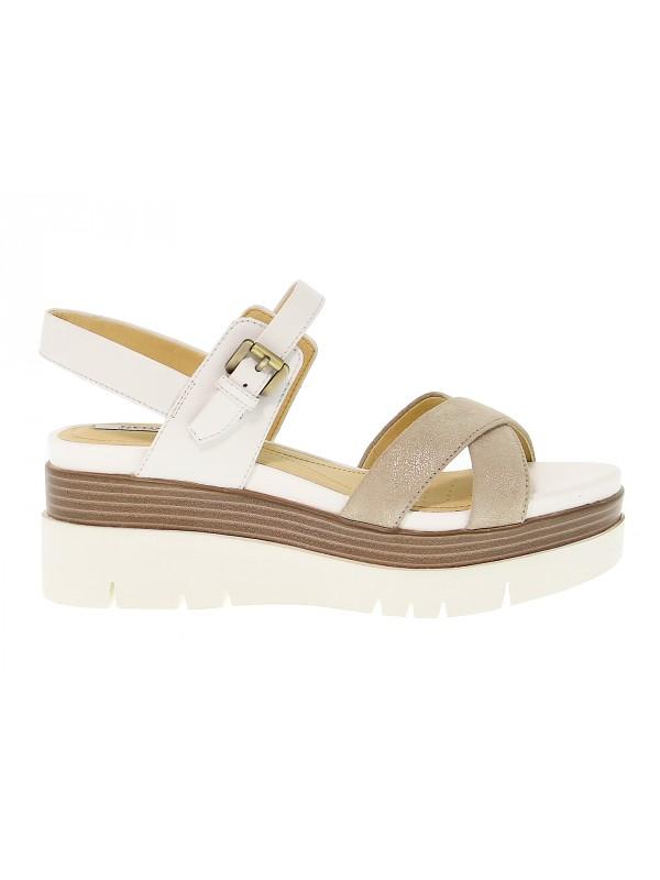Sandalo Donna Outlet Tacco Scarpe Con In Radwa Geox Pelle qSw1Hx4q