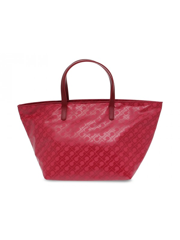 Shopping bag Gherardini EASY SHOPPING BAG GRANDE in tessuto e pelle rosso