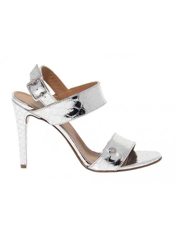 Sandalo con tacco Love Moschino in pelle - Nuova Collezione Autunno ... 58e32de57bc