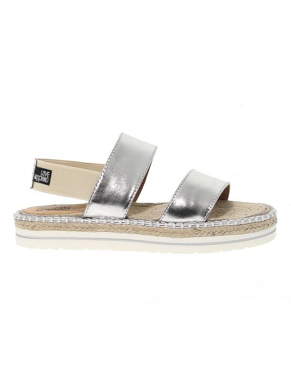Sandalo basso Love Moschino in pelle