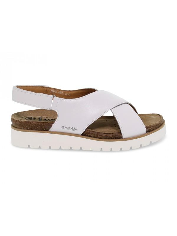 Sandalo basso Mephisto TALLY SOFTY MOBILS ERGONOMIC in pelle bianco