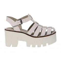Sandalo con tacco Windsor Smith FLUFFY in pelle
