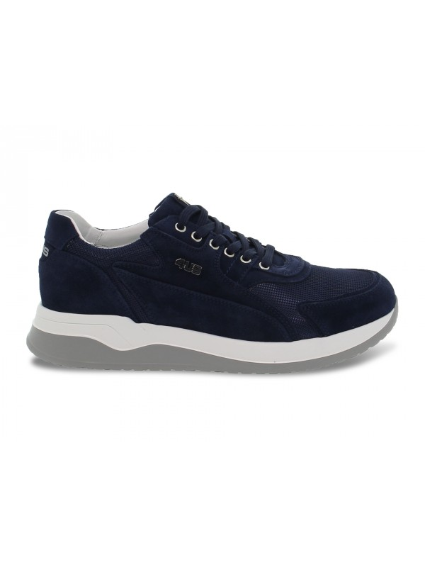 Sneakers Cesare Paciotti 4us CRICKET 4US in camoscio e nylon blu