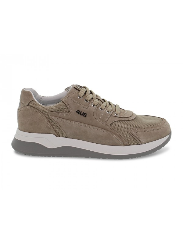 Sneakers Cesare Paciotti 4us CRICKET 4US in camoscio e nylon sabbia