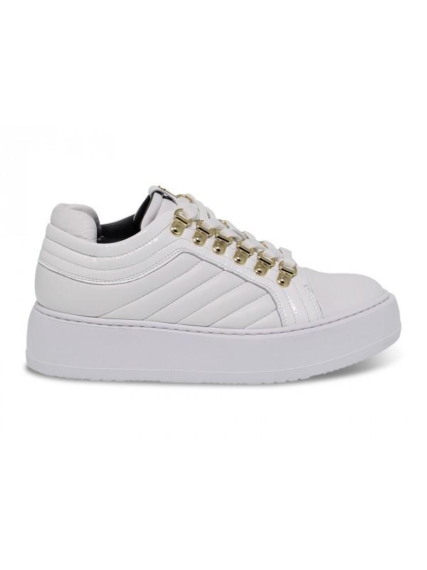 Sneakers Cesare Paciotti in nappa e vernice bianco