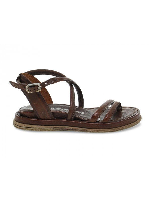 Sandalo basso A.S.98 in pelle cuoio