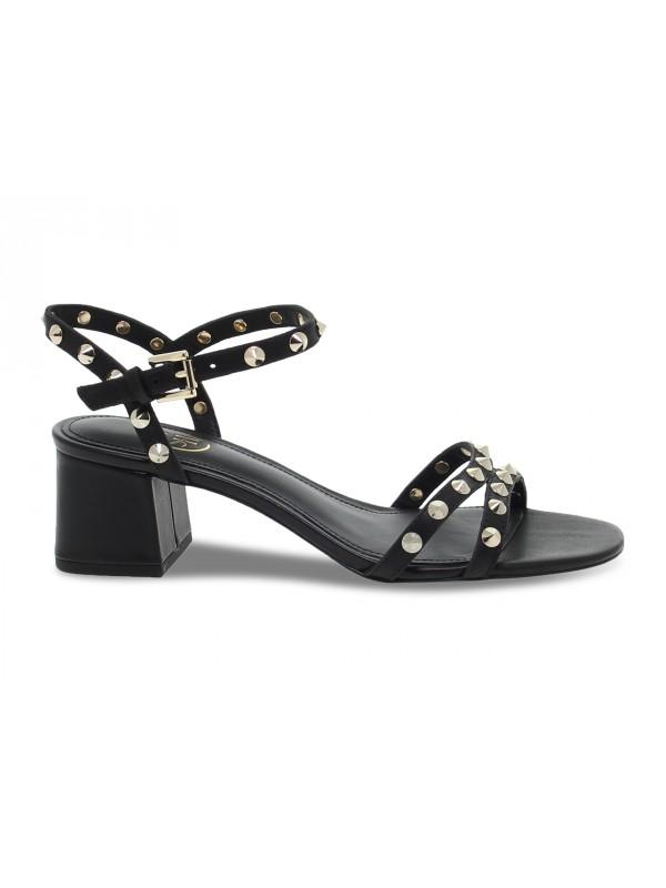 Sandalo basso Ash FRATE in pelle nero e oro