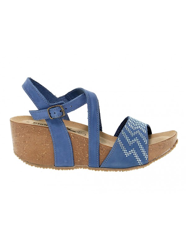 Sandalo con tacco Bionatura