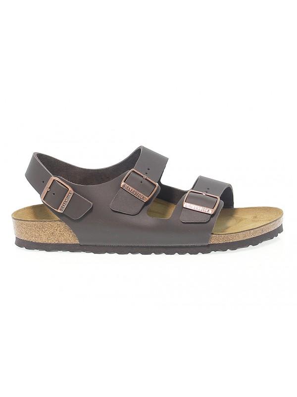 Sandalo Birkenstock MILANO in pelle marrone scuro