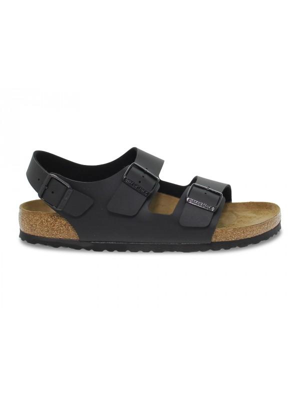 Sandalo Birkenstock MILANO in birkoflor nero