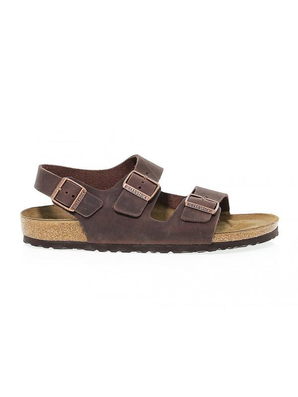 Sandalo Birkenstock MILANO in pelle habana