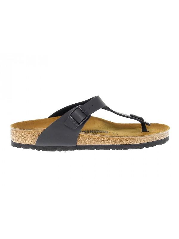 Sandalo Birkenstock GIZEH in birkoflor nero