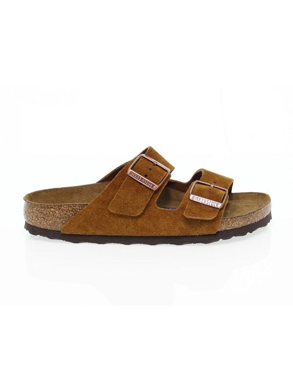 Sandalo basso Birkenstock ARIZONA in camoscio ocra