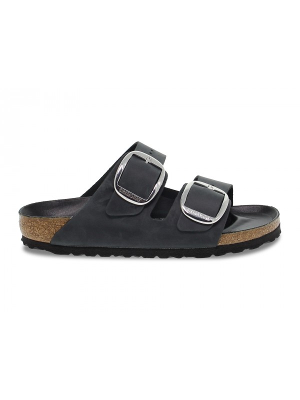 Sandalo basso Birkenstock ARIZONA BIG BUCKLE in pelle nero