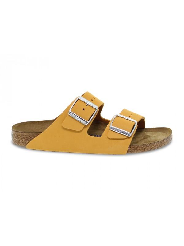 Sandalo basso Birkenstock ARIZONA in nabuk arancio