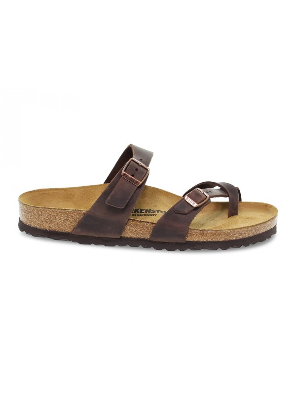 Sandalo Birkenstock MAYARI in pelle habana