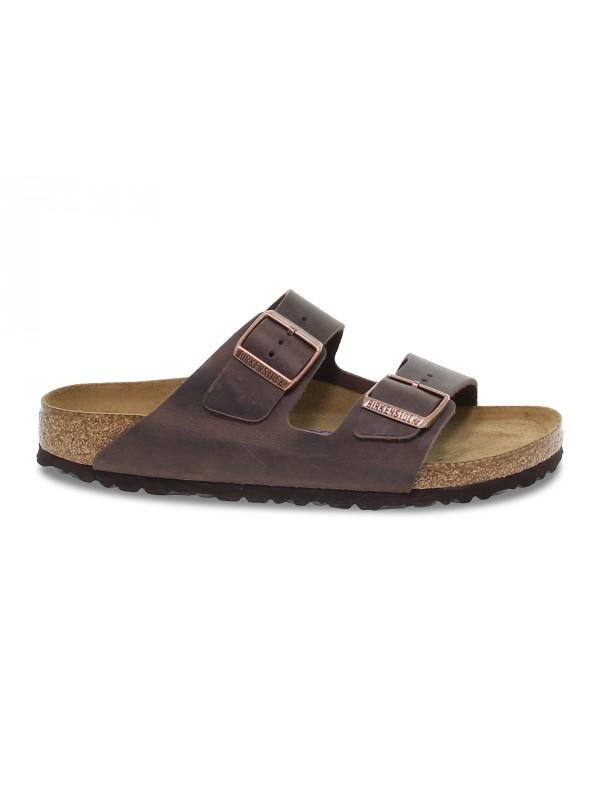 Sandalo basso Birkenstock ARIZONA in pelle habana