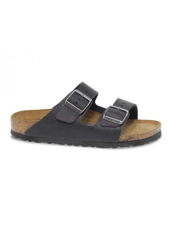 Sandalo basso Birkenstock ARIZONA in pelle nero