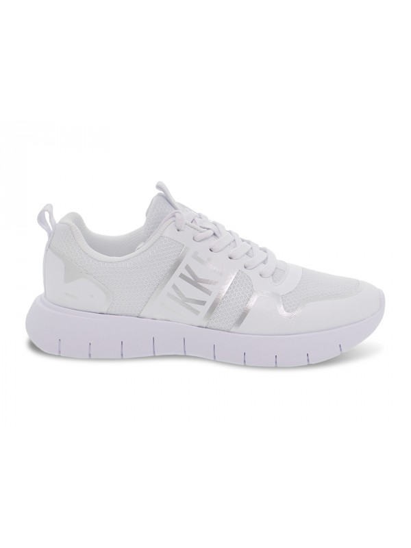 Sneakers Bikkembergs FREDERIC LOW TOP LACE UP in tessuto e gommato bianco e argento