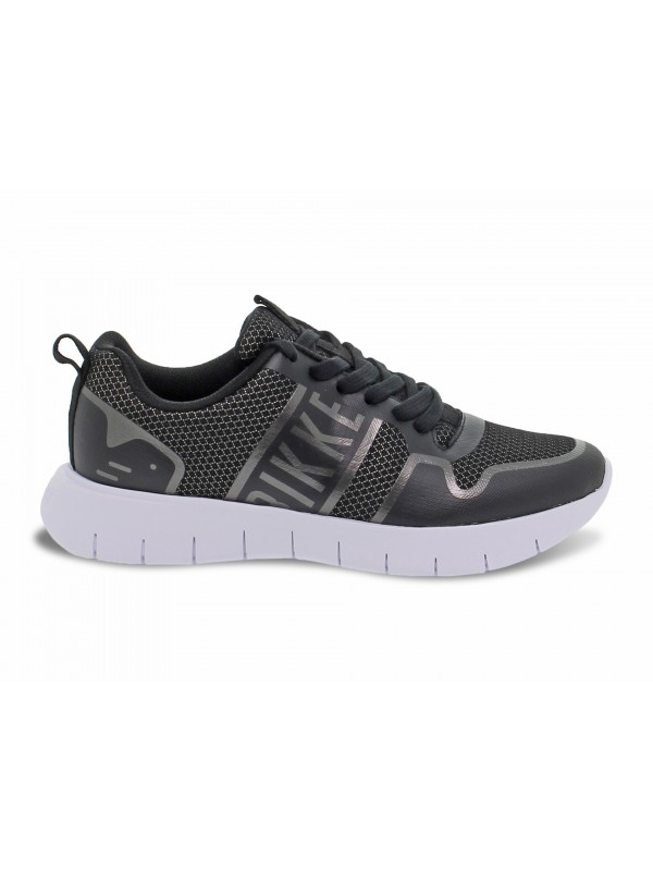 Sneakers Bikkembergs FREDERIC LOW TOP LACE UP in tessuto e gommato nero e metallo