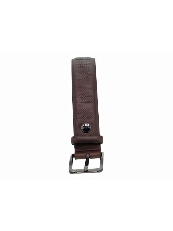 Cintura Bikkembergs MAN BELT 3,5 in stampato marrone scuro