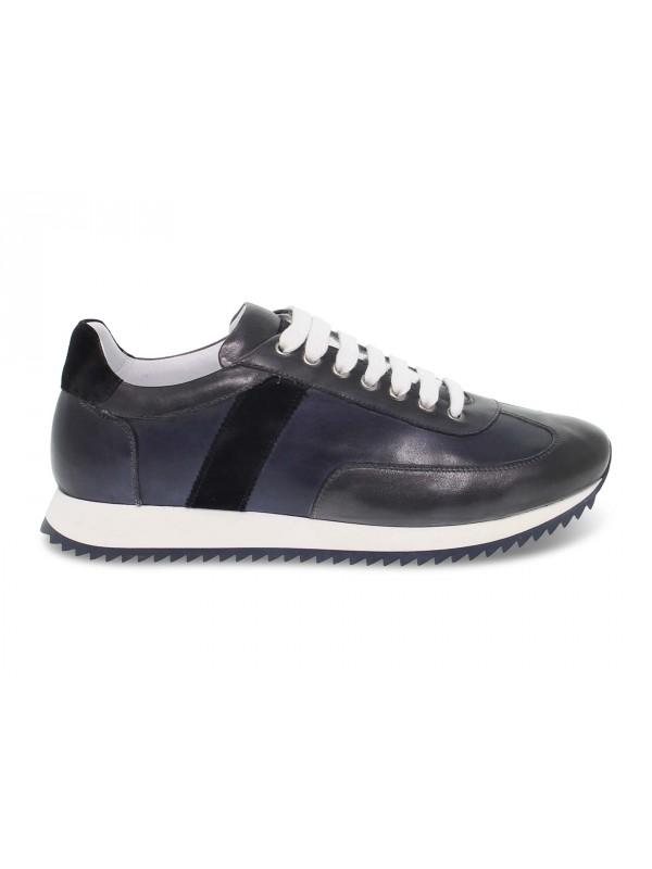 Sneakers Brecos in pelle blu e grigio