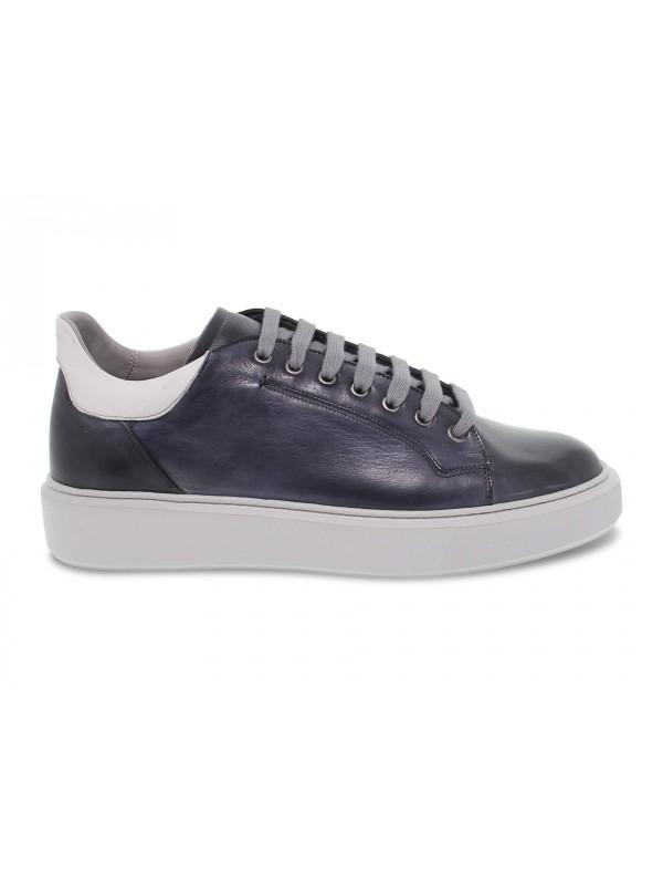 Sneakers Brecos WIMBLEDON in pelle blu e grigio