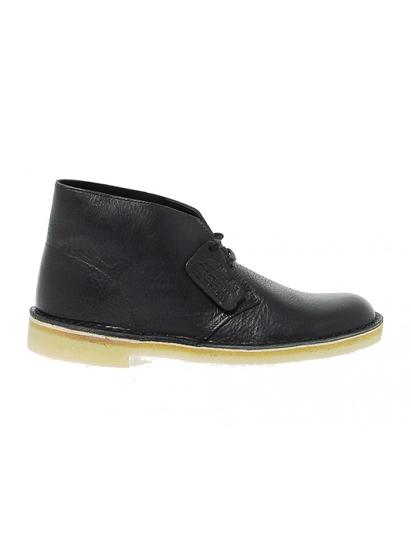 Polacco Clarks DESERT BOOT LEATHER in pelle nero