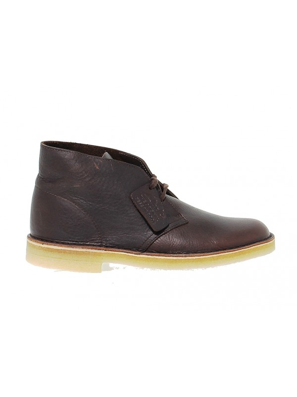 Polacco Clarks DESERT BOOT LEATHER in pelle marrone