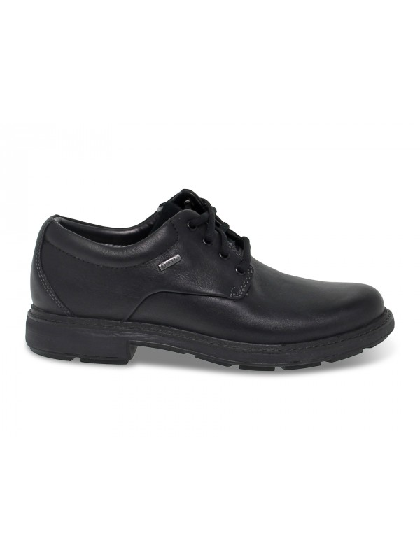 Stringata Clarks GORETEX in pelle nero
