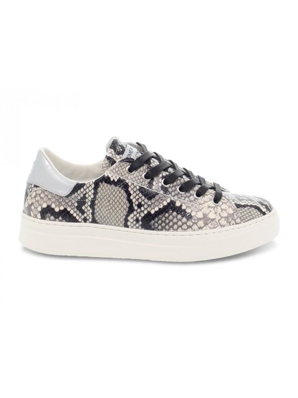 Sneakers Crime London LOW TOP CLASSIC in stampato e laminato roccia e argento