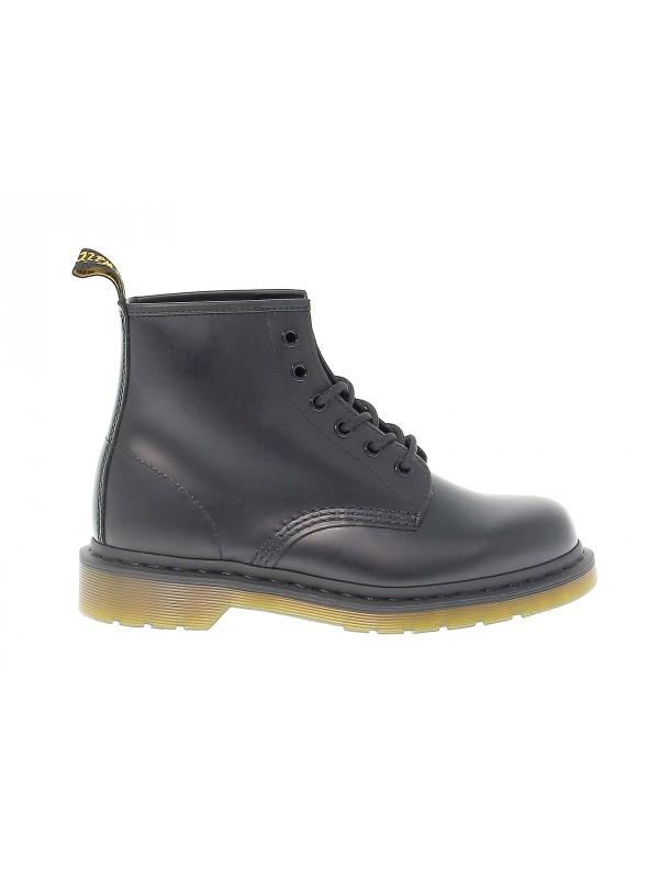 Polacco Dr. Martens 6 EYE BOOT in pelle e vernice nero