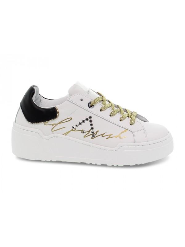 Sneakers Ed Parrish ALESSIA in pelle bianco e nero