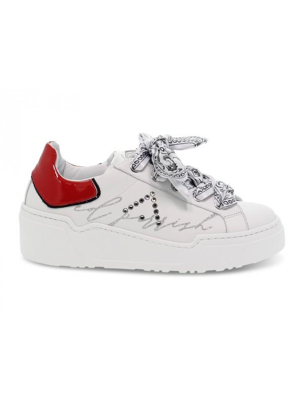 Sneakers Ed Parrish ALESSIA in pelle e vernice bianco e rosso