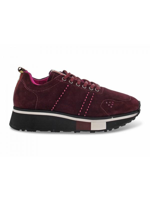 Sneakers Fabi in camoscio bordeaux