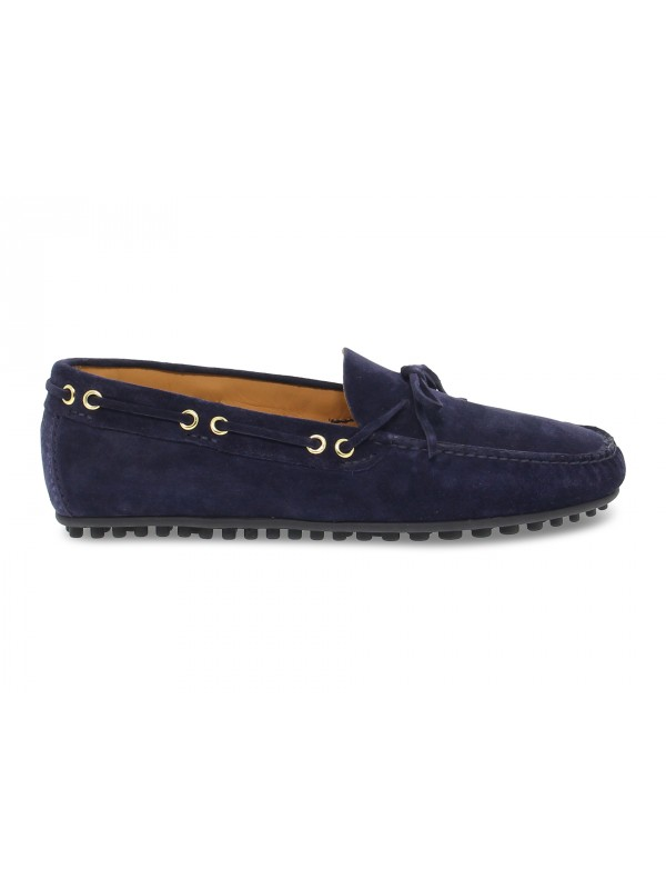 Mocassino Fabi CAR SHOES in camoscio blu