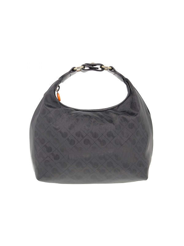 Borsa a mano Gherardini EASY BEAUTY in tessuto e pelle nero