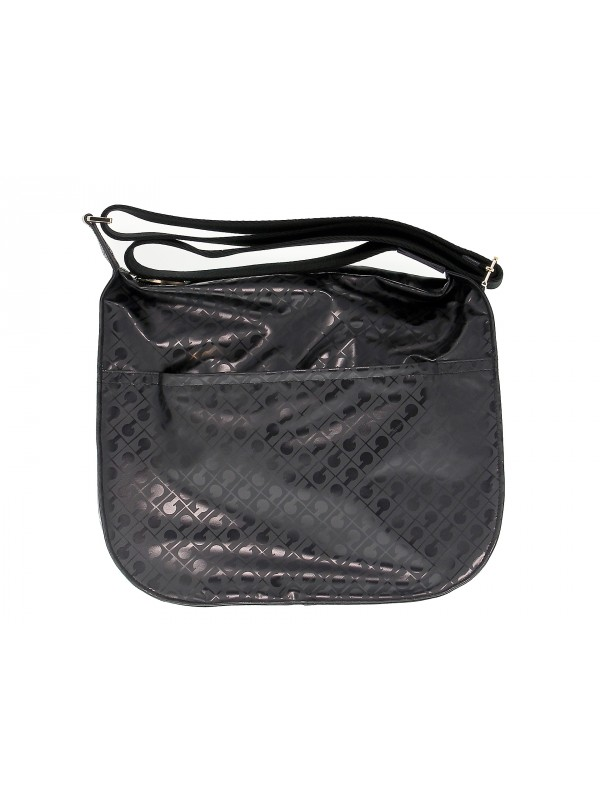 Borsa a tracolla Gherardini SOFTY CROSS BODY in tessuto e pelle nero