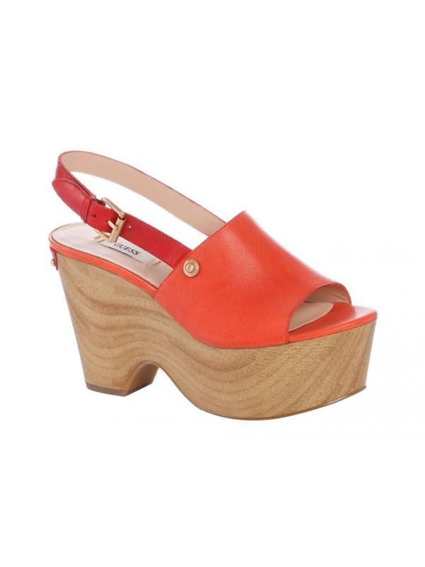Sandalo con tacco Guess in pelle