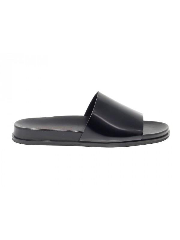 Sandalo Leo Pucci in pelle nero