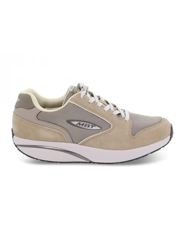 Sneakers MBT 1997 ACTIVE CLASSIC M in camoscio e tessuto taupe e grigio chiaro