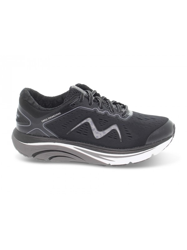 Sneakers MBT GTC-2000 LACE UP RUNNING M in tessuto e ecopelle nero e grigio