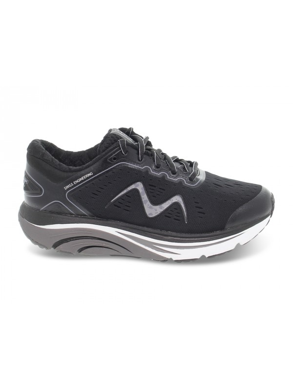 Sneakers MBT GTC-2000 LACE UP RUNNING W in tessuto e ecopelle nero e grigio