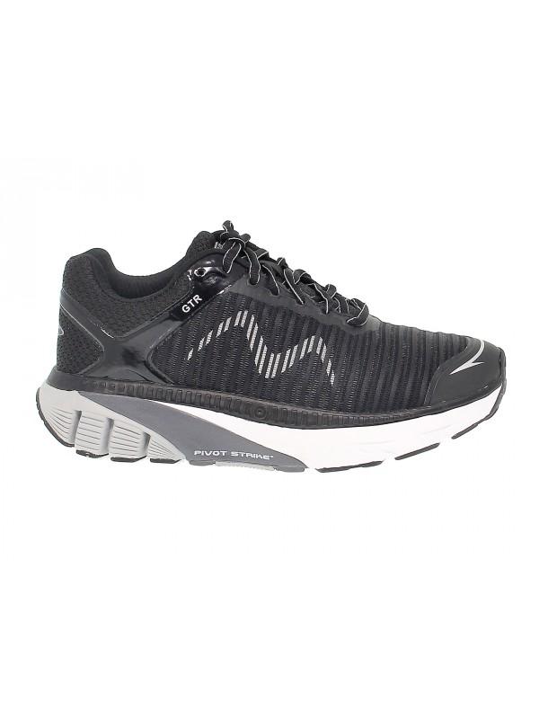Sneakers MBT GTR M in tessuto e ecopelle nero e grigio