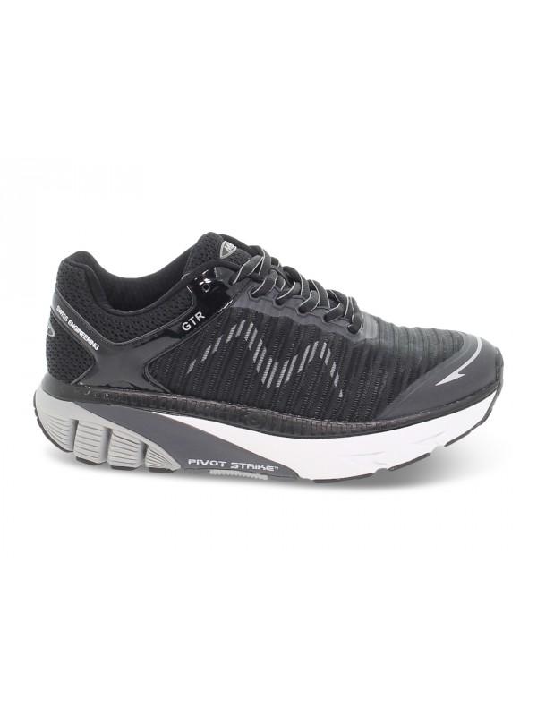 Sneakers MBT GTR RUNNING W in tessuto e ecopelle nero e grigio